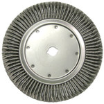 Weiler Steel Wheel Brush 0.014 in Bristle Diameter - Arbor Attachment - 15 in Outside Diameter - 1 1/4 in Center Hole Size - 09989