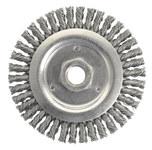Weiler Dually Steel Wheel Brush 0.02 in Bristle Diameter - Arbor Attachment - 4 1/2 in Outside Diameter - 79801