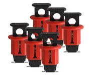 Brady Red Fiberglass Reinforced Nylon Circuit Breaker Lockout System 90845 - Pin Style - 0.95 in Width - 1.638 in Height - 662820-04634