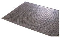 Notrax Grip-Step 350 Black Indoor/Outdoor Carpeted Entry Mat - 5 ft Width - 3 ft Length - Rubber Backing Material - 350 3 X 5