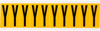 Brady 15 Series 1534-Y Black on Yellow Vinyl Letter Label - Indoor / Outdoor - 7/8 in Width - 2 1/4 in Height - 1 15/16 in Character Height - B-946