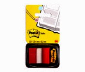 3M Post-it 680-1 Red Note Flags - 1.7 in Overall Length - 1 in Width - 50 Sheets - 66520