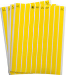 Brady Lasertab LAT-29-747-10-YL Yellow Polyester Laser Printable Label - 0.65 in Width - 0.2 in Height - B-747