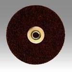 3M Scotch-Brite SL-DN Non-Woven Aluminum Oxide Maroon Quick Change Disc - Coarse - 5 in Diameter - 60285