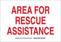 Brady B-555 Aluminum Rectangle White Emergency Area Sign - 10 in Width x 7 in Height - 127122