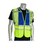 PIP 302-PSV Yellow/Blue M/XL Mesh/Solid High-Visibility Vest - 2 Pockets - 616314-07315