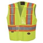 Pioneer StarTech Yellow/Green L/XL Tear Away Vest - 5 Pockets - 032738-03493