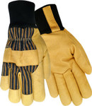 Red Steer 59260 Black/Yellow Large Grain Pigskin Leather Driver's Gloves - Wing Thumb - 59260-L