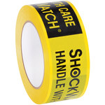 Shipping Supply ShockWatch Black/Yellow Shipping Indicator Tape - 100 yd x 2 in - 2 mil Thick - SHP-13612