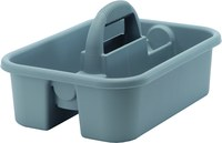 Quantum Storage Heavy-Duty Gray Tub Caddy - 13 7/8 in Overall Length - 18 3/8 in Width - 9 in Height - 03951