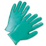 West Chester Posishield 2765 Green Large Powdered Disposable Gloves - Industrial Grade - 9.5 in Length - 5.5 mil Thick - 2765/L