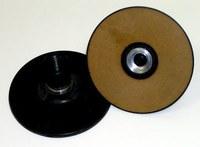 3M 28579 Extra Hard Black Roloc TS and TSM Disc Pad - 4 in DIA - 5/8 -11 Internal Thread Attachment