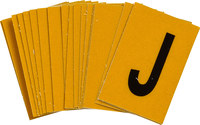 Brady Bradylite 5920-J Black on Yellow Letter Label - Outdoor - 1 in Width - 1 1/2 in Height - 1 in Character Height - B-997
