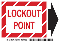 Brady B-324 Polyester Rectangle White Lockout Sign - 5.45 in Width x 0.4 in Height - 31868