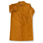 Chicago Protective Apparel Brown Large Leather Work Jacket - 50 in Length - 603-CL LG