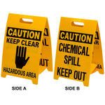 Brady B-836 Polypropylene Rectangle Yellow Floor Stand Sign - 12 in Width x 20 in Height - 92284
