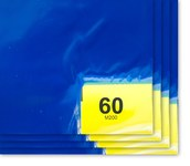 Purus PS 1836 Blue Polyethylene Frameless Tacky Sheet Mat - 18 in Width - 36 in Length - 60 Sheets Per Mat - PS 1836 64 B