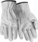 Red Steer 1665 White Large Grain Pigskin Leather Driver's Gloves - Keystone Thumb - 1665-L