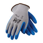 PIP G-Tek GP 39-1310 Blue/Gray Large Cotton/Polyester/Knit Work Gloves - Latex Palm Only Coating - 9.8 in Length - Rough Finish - 39-1310/L