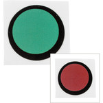Brady TIL-11-43C-DIA Black/Red Polyester Temperature Indicator Label - 0.94 in Width - 0.94 in Height - +50 C - B-7518