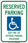 Brady B-555 Aluminum Rectangle White Parking Restriction, Permission & Information Sign - 12 in Width x 18 in Height - 127455