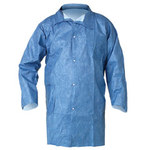 Kimberly-Clark Kleenguard A60 Blue Small Microporous Composite Fabric Chemical-Resistant Lab Coat - 2 Pockets - 036000-30945
