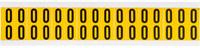 Brady 15 Series 1520-0 Black on Yellow Vinyl Number Label - Indoor / Outdoor - 9/16 in Width - 3/4 in Height - 5/8 in Character Height - B-946