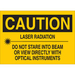 Brady B-555 Aluminum Rectangle Yellow Laser Hazard Sign - 10 in Width x 7 in Height - 41152