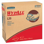 Kimberly-Clark Wypall L20 White Paper Wiper - Pop-up Dispenser - 88 units per pack - 16.8 in Overall Length - 9.1 in Width - 47044