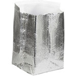 Shipping Supply Silver Insulated Box Liners - 10 in x 10 in x 10 in - 3/16 in Thick - SHP-11577