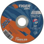 Weiler TIGER Zirconia Alumina Cutting Wheel - Type 1 - Straight Wheel - 60 Grit - 4 1/2 in Diameter - 7/8 in Center Hole -.045 in Thick - 58000
