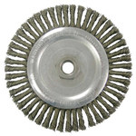 Weiler Carbon Steel Wheel Brush 0.02 in Bristle Diameter - Arbor Attachment - 5 in Outside Diameter - 36295