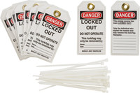 Brady 122981 Polyester / Paper Lockout / Tagout Tag - 3 in Width - 5 3/4 in Height - B-837
