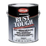 Krylon Industrial Coatings Rust Tough 01324 White High Gloss Alkyd Enamel Paint - 1 gal Can - 00132