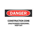 Brady B-401 Polystyrene Rectangle White Road Construction Sign - 14 in Width x 10 in Height - 25805