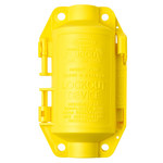Brady Hubbell Plugout Yellow Polypropylene Electrical Plug Lockout 65695 - 2 3/4 in Width - 4 3/4 in Height - 754476-65695
