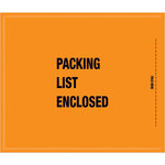 "Orange Mil-Spec ""Packing List Enclosed"" Envelope - 10 in x 8 1/2 in - SHP-10121"