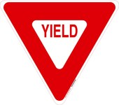 Brady B-959 Aluminum Triangle Stop Signs, Traffic Control Signs & Banners Sign - 18 in Width x 18 in Height - 80071