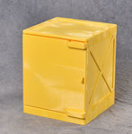 Eagle Quik-Assembly 4 gal Yellow Safety Cabinet - 18 in Width - 22 in Height - Bench Top - 048441-00895