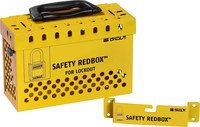 Brady Safety Redbox Red Steel Group Lockout Box 145580 - 20 Padlock Capacity - 754473-54397