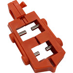 Brady Red Nylon Circuit Breaker Lockout Device 65387 - Snap-On - 0.83 in Width - 2.15 in Height - 754476-65387
