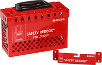 Brady Safety Redbox Red Steel Group Lockout Box 145579 - 20 Padlock Capacity - 754473-54396