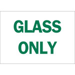 Brady B-302 Polyester Rectangle White Recycle Sign - 10 in Width x 7 in Height - Laminated - 86025