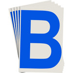 Brady Toughstripe 121701 Blue Polyester Letter Label - Indoor - 6 in Width - 8 in Height - 8 in Character Height - B-514