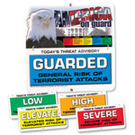 Brady Aluminum Square White Homeland Security Sign - 24 in Width x 24 in Height - 132451