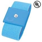 Desco Reusable Wrist Strap - 11 in Length - 1.125 in Wide - 4 mm Snap, Alligator Clip - 09026