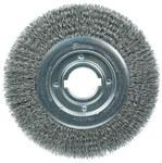 Weiler Steel Wheel Brush 0.02 in Bristle Diameter - Arbor Attachment - 10 in Outside Diameter - 2 in Center Hole Size - 06170