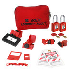 Brady Red Nylon Lockout/Tagout Kit -.33 in Depth - 1.19 in Width - 2.14 in Height - 754473-63187