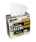 Sellars Toolbox Scrim White Cellulose / Nylon 175 Wipe - Box - 16 1/2 in Overall Length - 9 1/2 in Width - SELLARS 15200