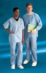 Dupont Convertors Blue Medium Disposable Scrub Shirt - 23502T